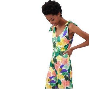 ZARA | Tropical Print Jumpsuit Playsuit Size M NWT